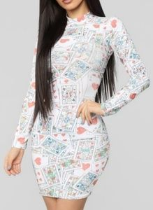 Cards mini dress fashion nova